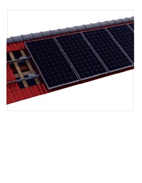 瓦屋頂光伏支架價格并網發電系統專用